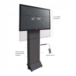 Podstawa przyścienna modułowa z elektr. reg. wysokości do monitorów (maks. 95 cali)