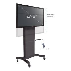 Podstawa mobilna modułowa z elektr. reg. wysokości do monitorów (maks. 95 cali)