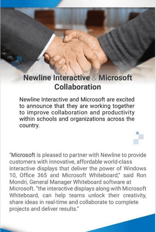 Współpraca Newline Interactive i Microsoft