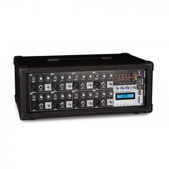 SMA-158U mikser 8-kanałowy ze wzmacniaczem