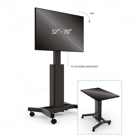 Podstawa mobilna do monitora typu 2w1 (monitor - stół interaktywny) z elektr. reg. wys. i pochylenia (maks. 70 cali)