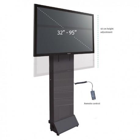 Podstawa przyścienna z elektr. reg. wysokości do monitorów (maks. 95 cali)